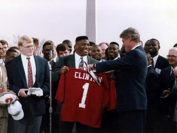 Crimson Tide Football Visits Bill Clinton 1993