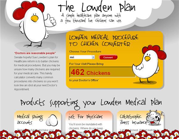Sue Lowden Medical Chicken Calculator