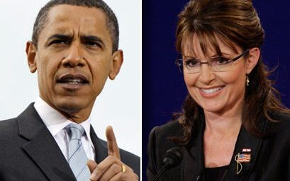 Obama 55, Palin 42 (Plus $12 Million)