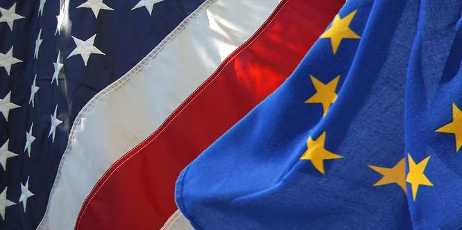 USA-EU Flags