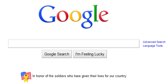 Google Memorial Day Logo 2010