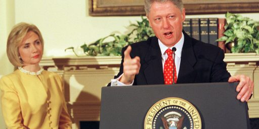 Bill Clinton Casts The First Stone