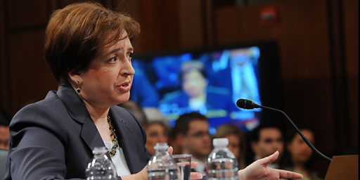 Some Real Questions For Elena Kagan
