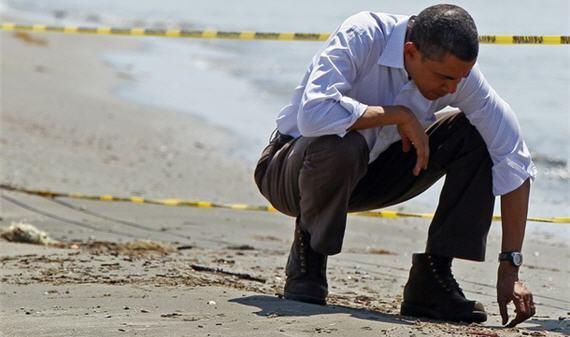 President Obama Gulf Sand