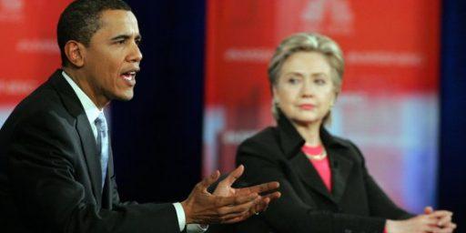 Obama Beats Hillary, Again