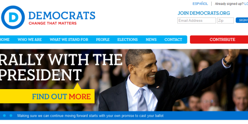 """Democrats """"Major Announcement"""" Turns Out To Be Cheesy New Logo"""