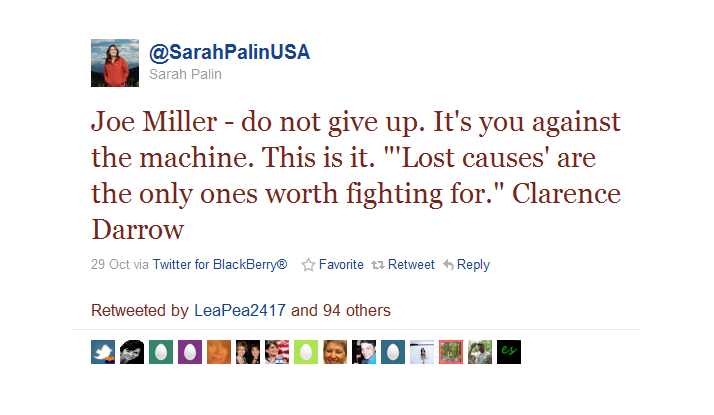 FireShot Pro capture #025 - 'Twitter _ @Sarah Palin_ Joe Miller - do not give u ___' - twitter_com_#!_SarahPalinUSA_status_29151539048