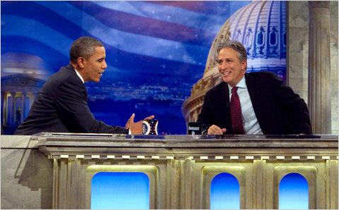 President Obama Daily Show Jon Stewart
