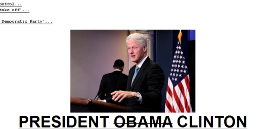 Barack Obama Leaves Bill Clinton In Charge