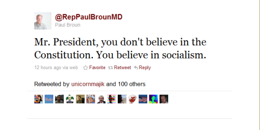 "GOP Congressman's SOTU Live-Tweet: ""Mr. President....You Believe In Socialism"""