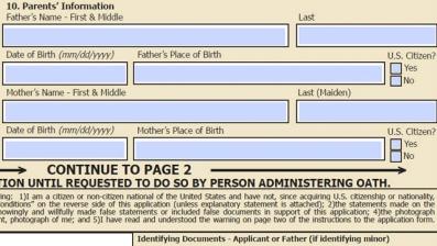Application for u.s.passport