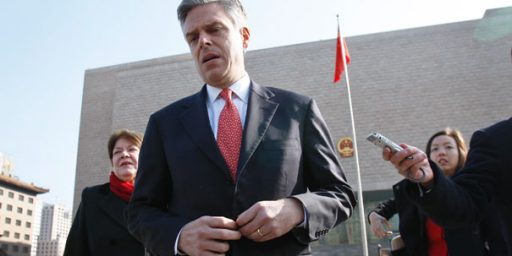 U.S. Ambassador To China Spotted At Anti-Government Rally
