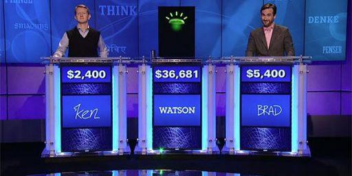 Watson Beats Ken Jennings on Jeopardy