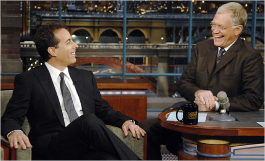 "Jerry Seinfeld appearing on the ""Late Show with David Letterman""  (Photo: John Paul Filo, CBS/Associated Press)"