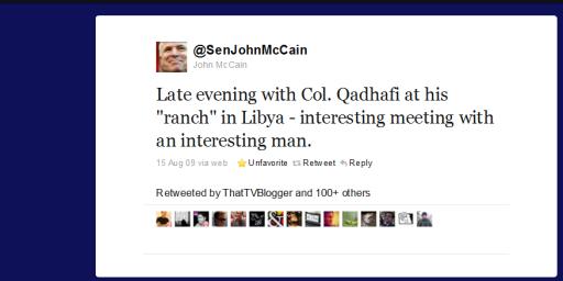 Dear Senator McCain: What Happens On Twitter, Stays On Twitter