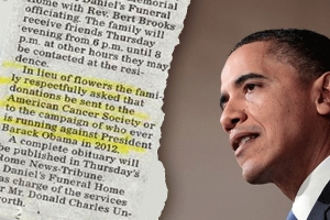 """In lieu of flowers.....make a donation to ANYONE running against Barack Hussein Obama"""