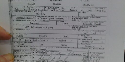 You Wanted To See It:  Barack Obama's Long Form Birth Certificate (*UPDATED*)