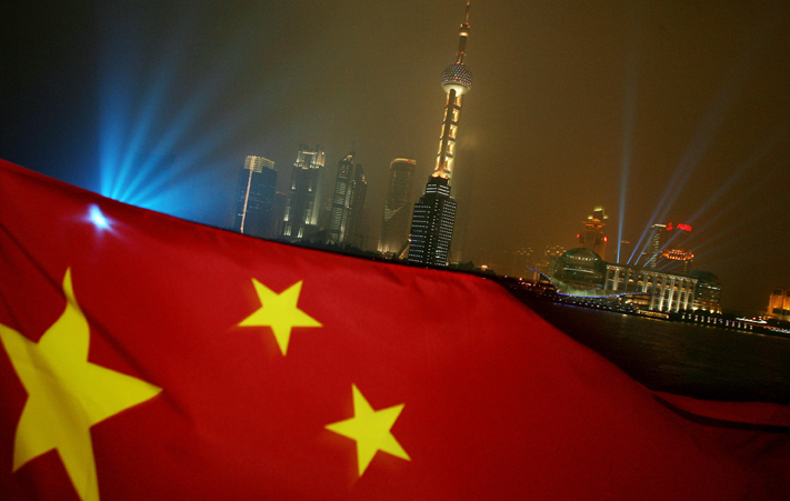 china-flag-cityscape