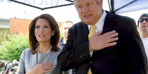 Michele Bachmann's Husband Didn't Call Gays Barbarians, Except For That Time He Called Gays Barbarians