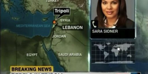 CNN Can't Find Tripoli On A Map, At Least Not The Right One