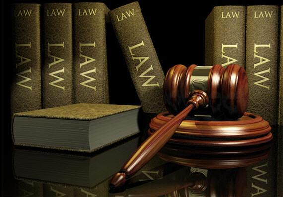 Law Books Gavel