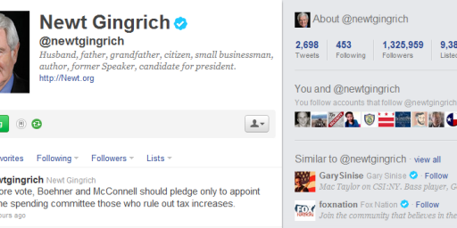 Newt Gingrich's Twitter Followers Mostly Fake?