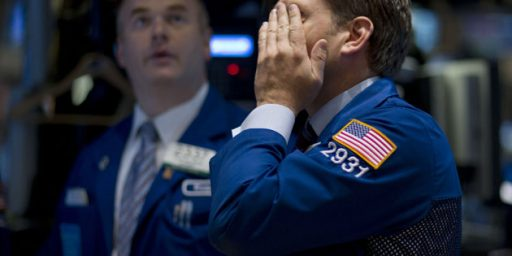 Dow Plunges Over Double Dip Worries