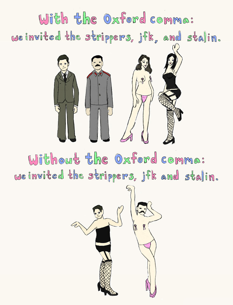 oxford comma jfk stalin