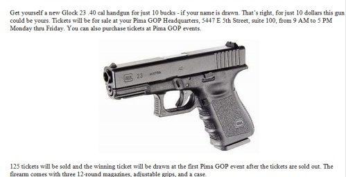 Gabby Giffords District Republicans Raffle a Glock!