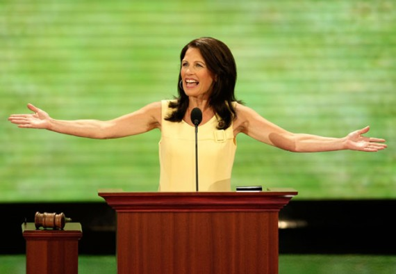 Michelle Bachmann at Podium