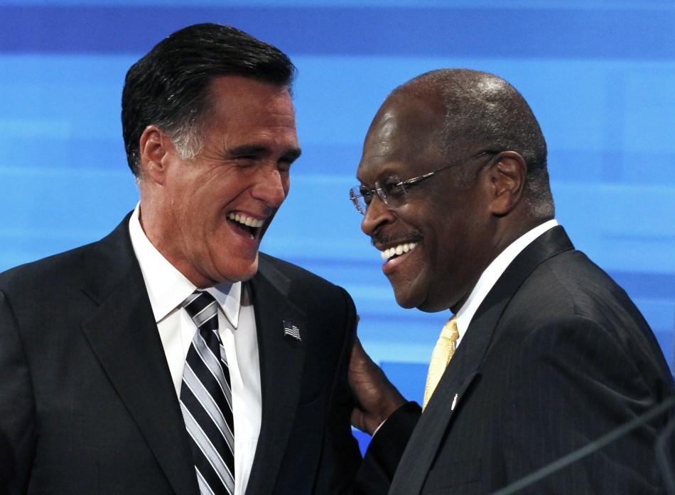 Mitt Romney Herman Cain