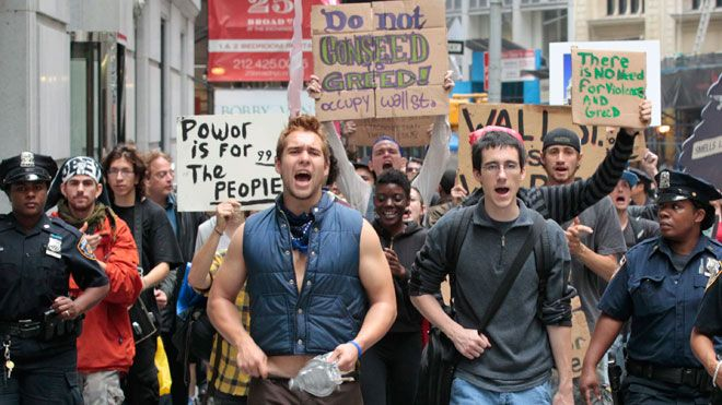 Protesters-From-Occupy-Wall-Street-Campaign-at-NYSE