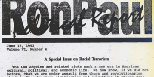 Ron Paul:  Not So Much Denial Back in the 1990s (Plus:  Newsletters 101)