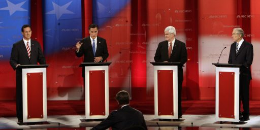 Newt Gingrich, Mitt Romney Clash In Subdued Tampa Debate