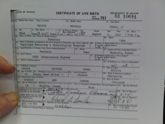 certificate birth form obama georgia kansas replacement states united birthers president law version born heard april copy ever barack thought