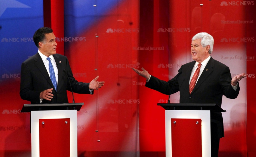 Romney Gingrich Debate