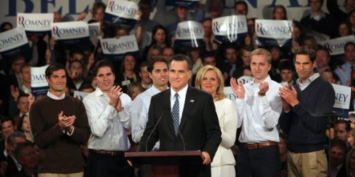 Mitt Romney Wins New Hampshire, Ron Paul Second, Race Nearly Over