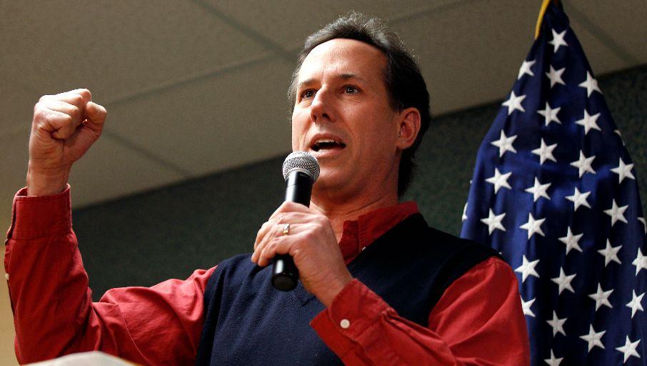 Santorum at Podium 2
