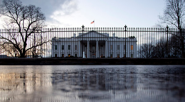 White House View From Pennsylvania Avenue