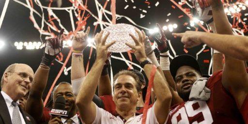 Alabama Wins 14th National Championship; Playoff Needed
