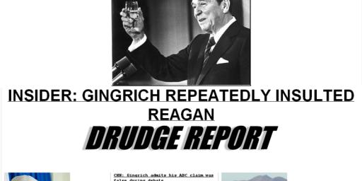 Drudge Report Becomes Gingrich Report