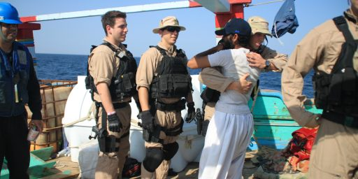 U.S. Navy Rescues Iranian Sailors From Pirates