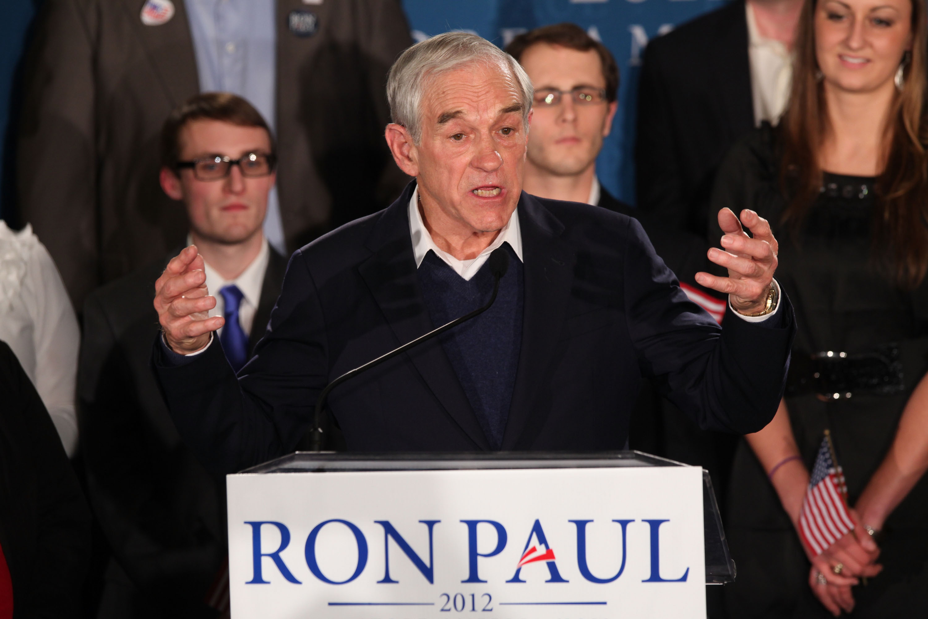 Republican Presidential Candidate Ron Paul Attends Primary Night Gathering