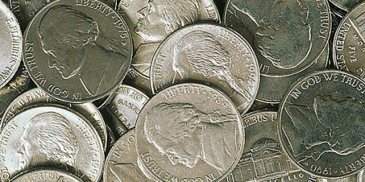 U.S. Mint Loses 6 Cents On Every Nickel It Produces