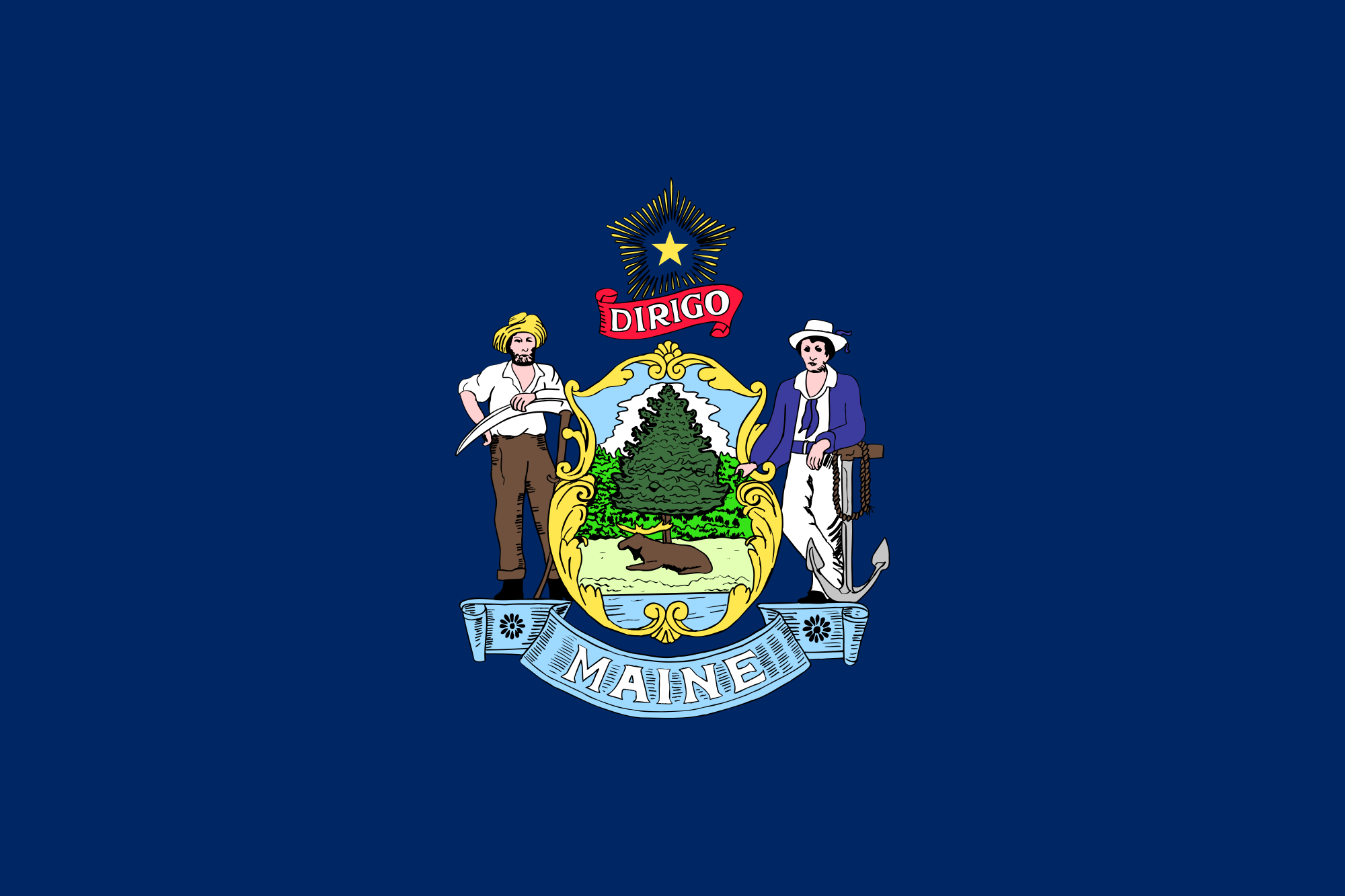 Maine_state_flag