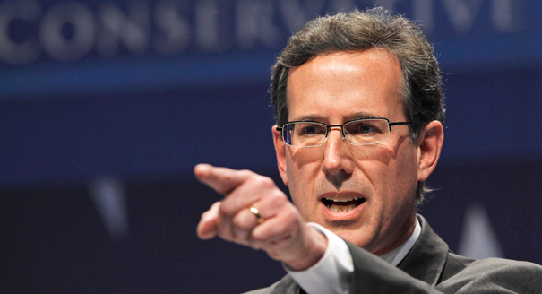 Santorum Pointing