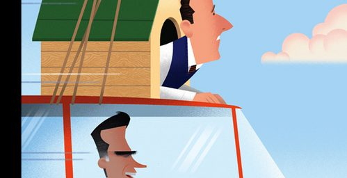 New Yorker: Santorum on Romney's Car Roof