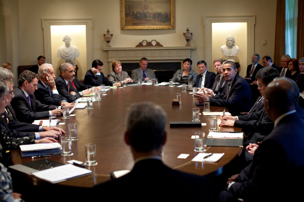 Obama Cabinet Meeting