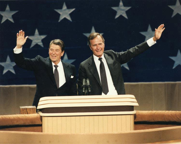 Ronald Reagan and George Bush 1984