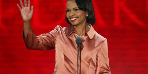 Condoleeza Rice, New Political Star?